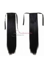Queue de cheval - Cheveux 100% naturels - Noir - Postiche Cheveux