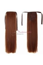 Queue de cheval Naturelle Châtain doré - Postiche Cheveux