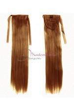 Queue de cheval - Cheveux 100% naturels - Blond foncé doré - Postiche Cheveux