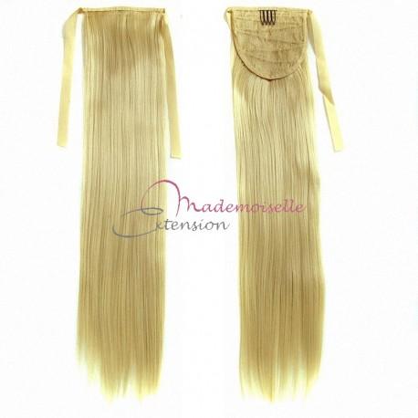 Queue de cheval Naturelle Blond très clair doré - Postiche Cheveux