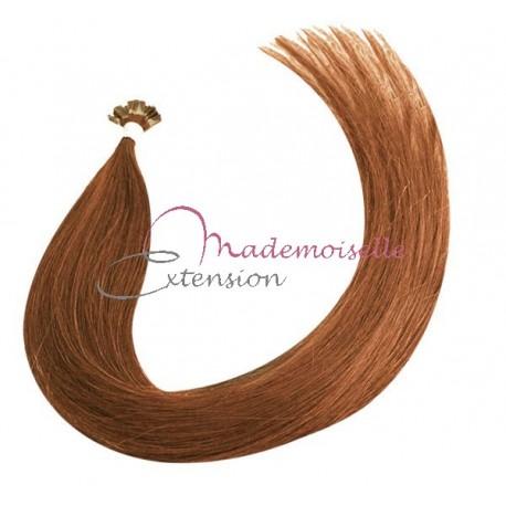 Mademoiselle Extension - Extension Cheveux kératine - Gamme Density - Blond doré acajou