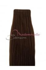 Extension cheveux bande adhésive Lisse - Chatain Foncé
