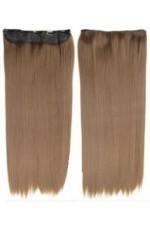 Extension a clip mono bande Lisse Blond naturel doré - Extension cheveux Fibre professionnelle