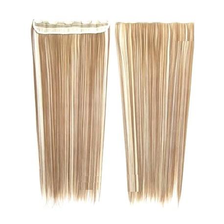 Extension cheveux mono bande Lisse Blond trés clair méché