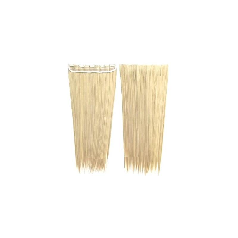Nouveau Extension a clip mono bande - Fibre professionnelle Blond platine  YS65