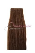 Extension a Bande Adhésive - Extension de cheveux Chatain doré