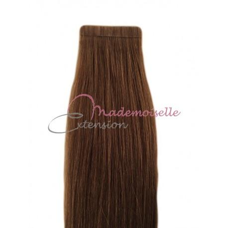 Extension cheveux bande adhésive Lisse - Chatain doré