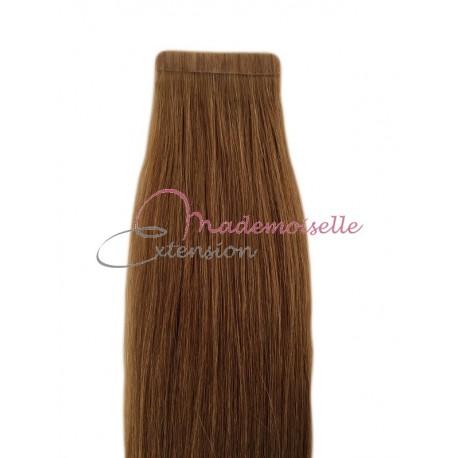 Extension cheveux bande adhésive Lisse - Chatain clair doré