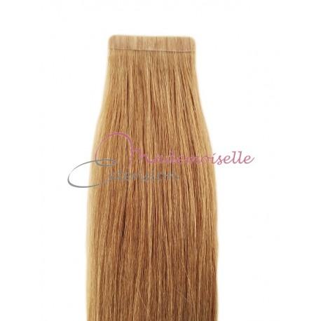 Extension cheveux bande adhésive Lisse - Blond clair doré cendré