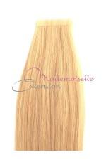 Extension cheveux bande adhésive Lisse - Blond trés clair doré
