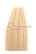 Extension cheveux bande adhésive Lisse - Blond platine