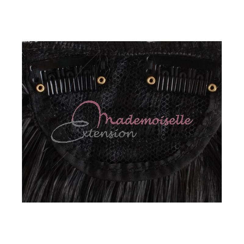 Super Frange a clip Chatain Fonce, Accessoire coiffure facile - Fausse  QR84