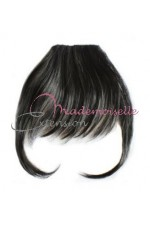 Extension cheveux mono bande Lisse Brun - Fibre professionnelle