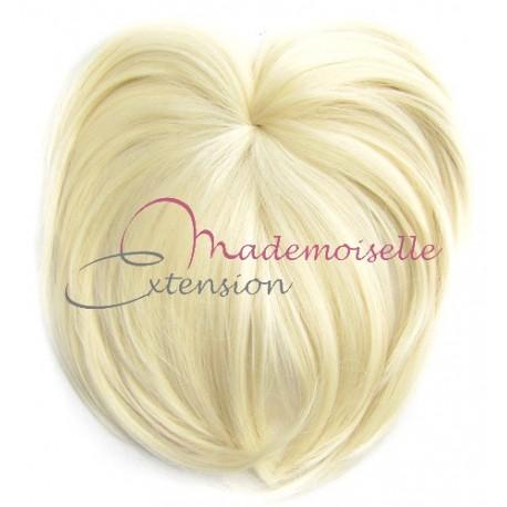 Toupet volumateur - Blond Platine Postiche  Fibre professionnelle