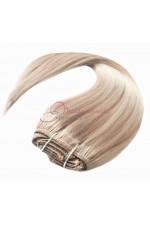 Extension a Clip Blond trés clair méché - Fibre professionnelle