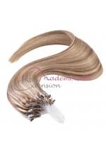 Extension à froid lisse - Loop -  Blond très clair méché