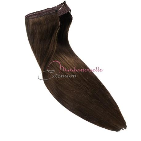 Extension cheveux a enfiler Chatain foncé - Fibre professionnelle