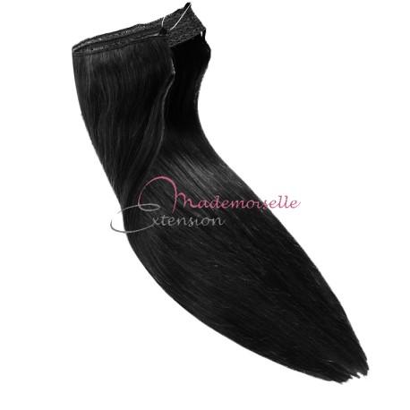 Extension cheveux a enfiler Noir - Fibre professionnelle