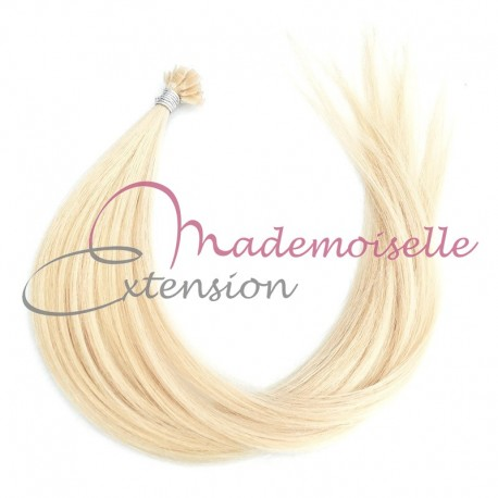 Mademoiselle Extension - Extension Cheveux kératine - Gamme Density - Blond platine
