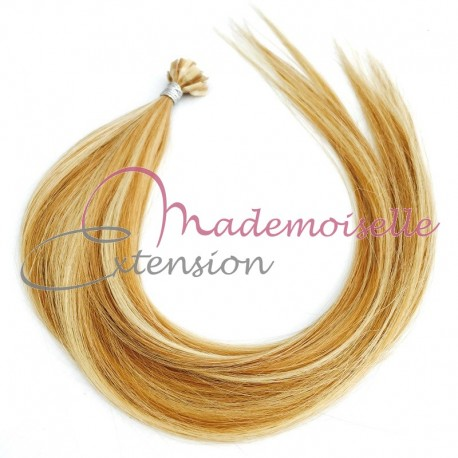 Mademoiselle extension - Extension Cheveux kératine - Gamme Density - Blond trés clair méché