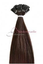 Extension Cheveux a chaud - Gamme Simply - Châtain foncé