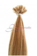 Extension Cheveux a chaud - Gamme Simply - Blond très clair méché N°14/613