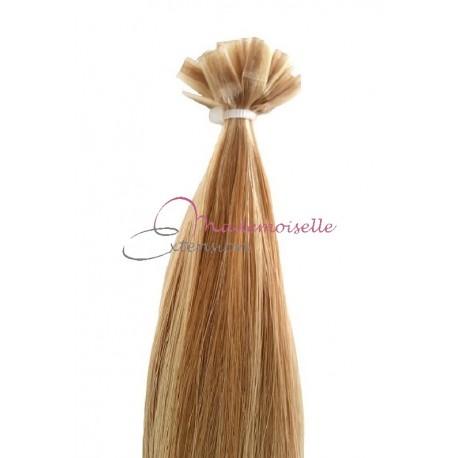Extension Cheveux a chaud - Gamme Simply - Blond très clair méché