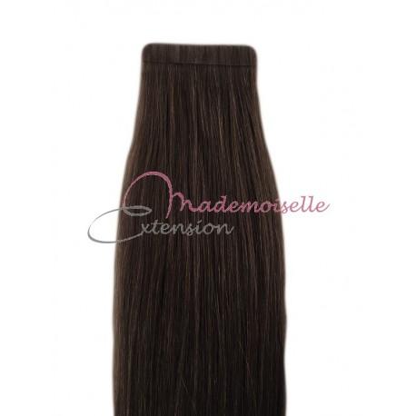 Extension cheveux bande adhésive Lisse - Brun