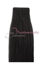 Extension cheveux bande adhésive Lisse - Noir