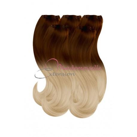 Extension a Clip Ombré hair - Blond méché doré