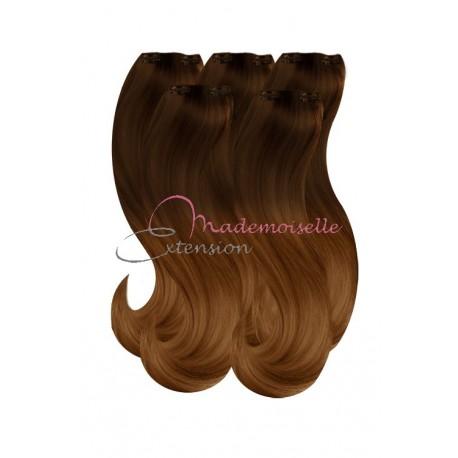 Extension a Clip - Tie & Dye - Ombré hair - Châtain méché