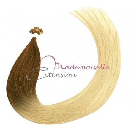 Mademoiselle Extension - Extension Cheveux kératine - Gamme Density - Ombré Tie & Dye Blond