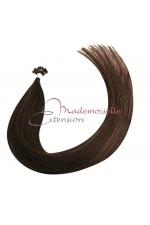 Mademoiselle Extension - Extension Cheveux kératine - Gamme Density - Chatain foncé