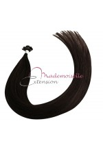 Mademoiselle Extension - Extension cheveux keratine Brun Remy Hair extension a chaud