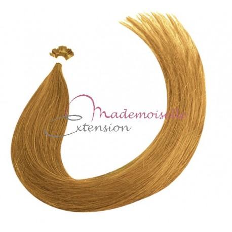 Extension Cheveux kératine - Gamme Density - Bond clair doré cendré