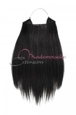 Extension cheveux naturel a enfiler - Lisse - Noir
