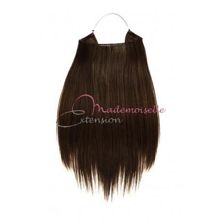 Extension cheveux naturel a enfiler - Lisse - Châtain foncé