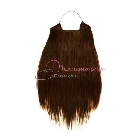 Extension cheveux naturel a enfiler - Lisse - Châtain doré
