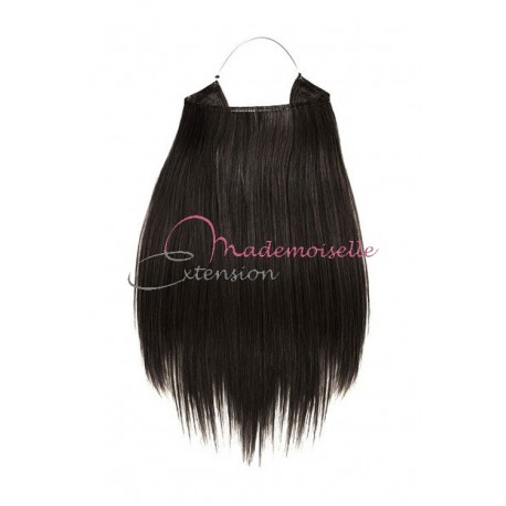 Extension cheveux naturel a enfiler - Lisse - Brun