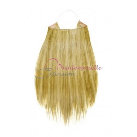 Extension cheveux naturel a enfiler - Lisse - Blond très clair méché