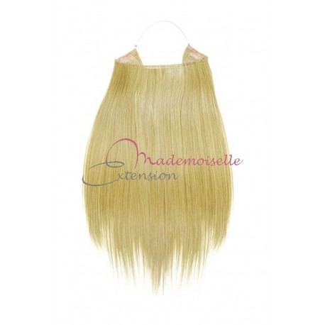 Extension cheveux naturel a enfiler - Lisse - Blond très clair doré
