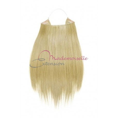 Extension cheveux naturel a enfiler - Lisse - Blond Platine