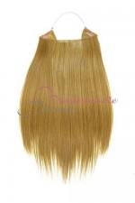 Extension cheveux naturel a enfiler - Lisse - Blond clair doré cendré