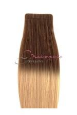 Extension cheveux a bande adhésive Tie & Dye Blond méché N°6/22