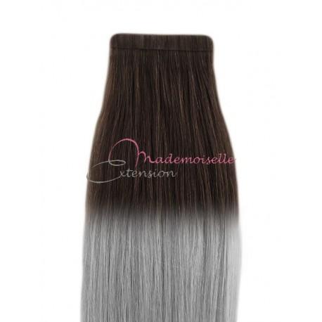 Extension bande adhésive - Cheveux Tie & Dye Blond méché