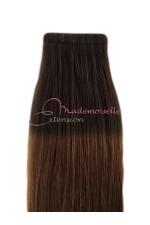 Extension bande adhésive - Cheveux Tie & Dye Brun / Châtain doré